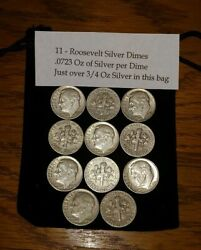 Silver For Bug Out Bag, Emergency Kit Supplies. 11 X 90 Silver Dimes