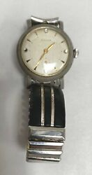 Vtg Bulova With Seperate Seconds Second Hand Dial Mens Watch Wristwatch A20