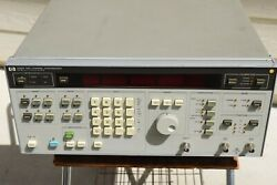 Agilent / Hp 3326a Two Channel Synthesizer Option 001 Tests Guaranteed Pass