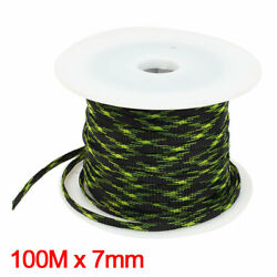 100m Green Black Car Audio Expandable Pet Sleeving Cable Weave Protector