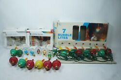 Vintage Lot Of 26 Christmas Tree Bubble Lights Tested And Working 6 Clear