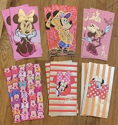 12 Pc Chinese New Year Red Foil Envelopes Disney Mickey Mouse Minnie Lunar Money