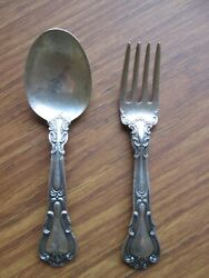 Gorham Sterling Silver Baby Fork And Spoon 49 Grams