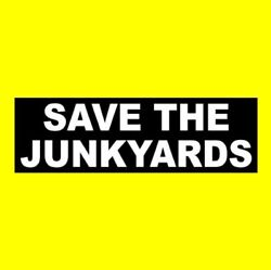 Funny Save The Junkyards Window Decal Rat Rod Sticker, Bumper, Muscle Car, Hot