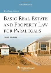 Basic Real Estate And Property Law For Paralegals By Helewitz Jeffrey A. Paandhellip