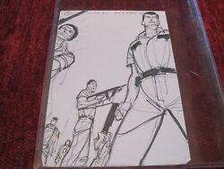 Walking Dead Storyboard Of Group Drawn And Signed By John Watkiss