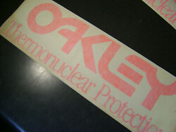 Old school Oakley Factory Pilot Thermonuclear car window decal ORANGE 17quot; x 5.5quot; $19.50
