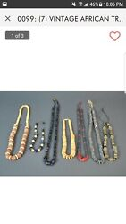 7pcs Old African Trade Beads Including Some Bone And Millefiori.14_28/884.3g