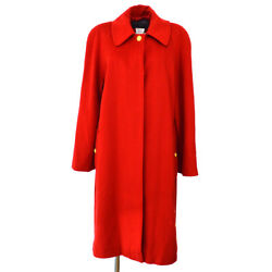 96a 36 P08272w02312 Cc Button Long Sleeve Jacket Coat Red 03394