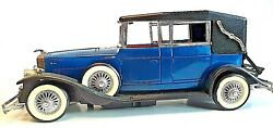 Vintage 1931 R Lincoln Collectible Battery Hobby Car Auto Blue Red 1/18 Ricko