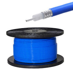 100 Feet Rg402 Cable .141 Semi-rigid Coaxial Cable With Blue Fep Jacket