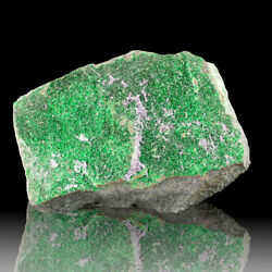 3.5 Flashy Emerald Green Uvarovite Twinkling Sparkling Crystals Russia For Sale