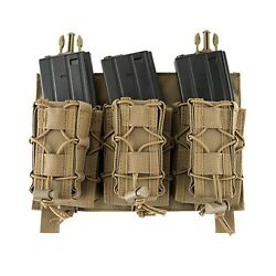 Click-in Hook And Loop Attach 223 308 Pistol + Rifle Magazine Triple Pouch Placard