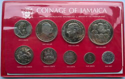 Jamaica 1978 Out Of Many One People Min Set Of 8 Coins,rare