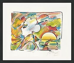 Peter Max Sunset Profile 1980   Rare Signed Print   Pop Art   Others Available