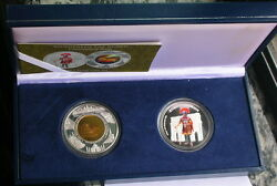 Cambodia 2006 Roma History Set Of 2 Silver Gold Coinsproofrare
