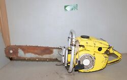 Vintage Mcculloch Big Super 44 Chainsaw Logging Wood Tool Collectible Saw X10