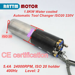 Cnc 1.8kw Water Cooling Atc Spindle Automatic Tool Change Motor Iso20 220v