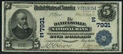 Fr590 5 1902 Series Date Back The Danielsville Nb Of Pa Che7931 683 Dfp 4/13