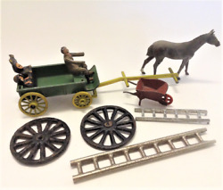 9 Vintage Miniature Lead Farm Miscellaneous Accessories Britains And Other