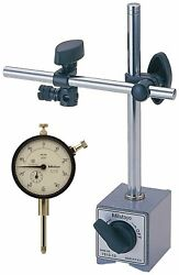Mitutoyo 64pka079 Magnetic Stand With Dial Indicator, 1 Travel, 0.001