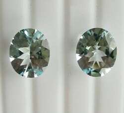8.85ct Aquamarines Matching Pair - Expertly Faceted In Germany + Cert Included