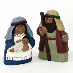 Midwest Of Cannon Falls Holy Family 4 Figurine Set 2pc Christmas Eddie Walker