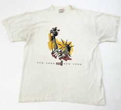 Vintage Coca Cola T Shirt Mens Xl Statue Of Liberty Rare Made In Usa