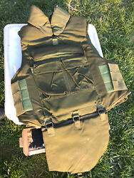 """1992 Canadian Forces Protective Vest Od Sz Large 42 - 46"""" Chest And Plate Inserts"""
