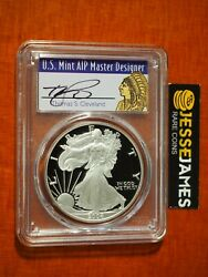 2004 W Proof Silver Eagle Pcgs Pr70 Dcam Cleveland Signed Native Chief Label