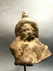 Ancient Terracotta Fragment Of Egyptian Harpocrates, Hellenistic Period, Nice