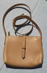 J CREW SMOOTH MATTE FINISH SQUASH LEATHER SMALL XBODY  BAG PURSE  7 X 9 LKNU...