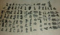 100 Piece Wholesale Lot Of Pewter, Pins , Figures, Earrings, Assorted Pieces 53