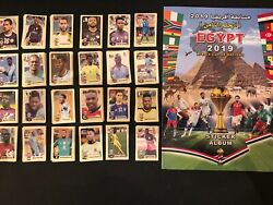 Rare Egypt Africa Cup 2019 Empty Sticker Album+ Full Set Of Stickers - Excellent