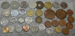 Vintage Foreign Coins Uruguay/canada/east Africa/mexico/france/england And More