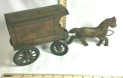 Antique Milk And Dairy Products Wagon Pull Toy, Nonpariel And Novelty Co., 1916