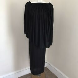 Rick Owens Black Drape Dress Tube Fitted One Shoulder Limo F/w 11 M