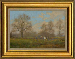Jamed Wright - Signed And Framed 20th Century Oil, The Plough Team