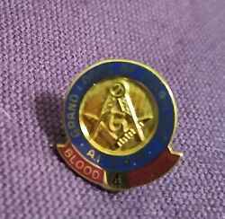 Grand Lodge Of Maryland A.f. And A.m. 10k Gold Filled Blood Donor 4 Lapel Pin