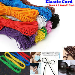 Elastic Cord String for Bracelets Necklace Beading 25Yards 5x5yd 1mm Round