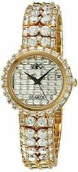 Adee Kaye Womenand039s Watch Austrian Crystal Paveand039 Dial Goldtone Beverly Hills New