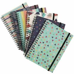 6x College Ruled Spiral Notebooks Note Book School 90s Inspired Designs 5quot; x 7quot; $15.99