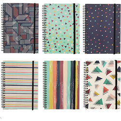 6x College Ruled Spiral Notebooks Note Book School 90s Inspired Designs 5quot; x 7quot;