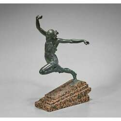 Art Deco French Bronze Sculpture Of Olympic Javelin Thrower By Max Le Verrier