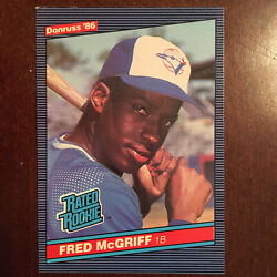 1986 Donruss Fred Mcgriff 28 Rookie Baseball Card