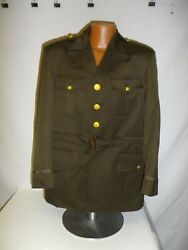 U3b-119 Ww 2 Us Army And Air Force Officer 4 Pocket Od Service Coat Jacket Size 42