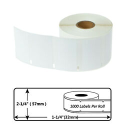 30334 1000 Labels Per Roll 2-1/4 X 1-1/4 For Dymo Labelwriter 300 400 450 Duo
