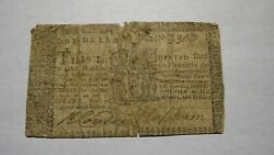 1770 1 Annapolis Maryland Md Colonial Currency Note Bill Rare Issue March 1