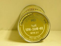 Vintage Pennzoil Can 10w-20w-40 Cardboard Empty From Bottom Motor Oil With Z-7