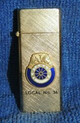 Teamsters Union 14kt Gold Plated Slim-lighter Horse Logo Non-working Local No 36